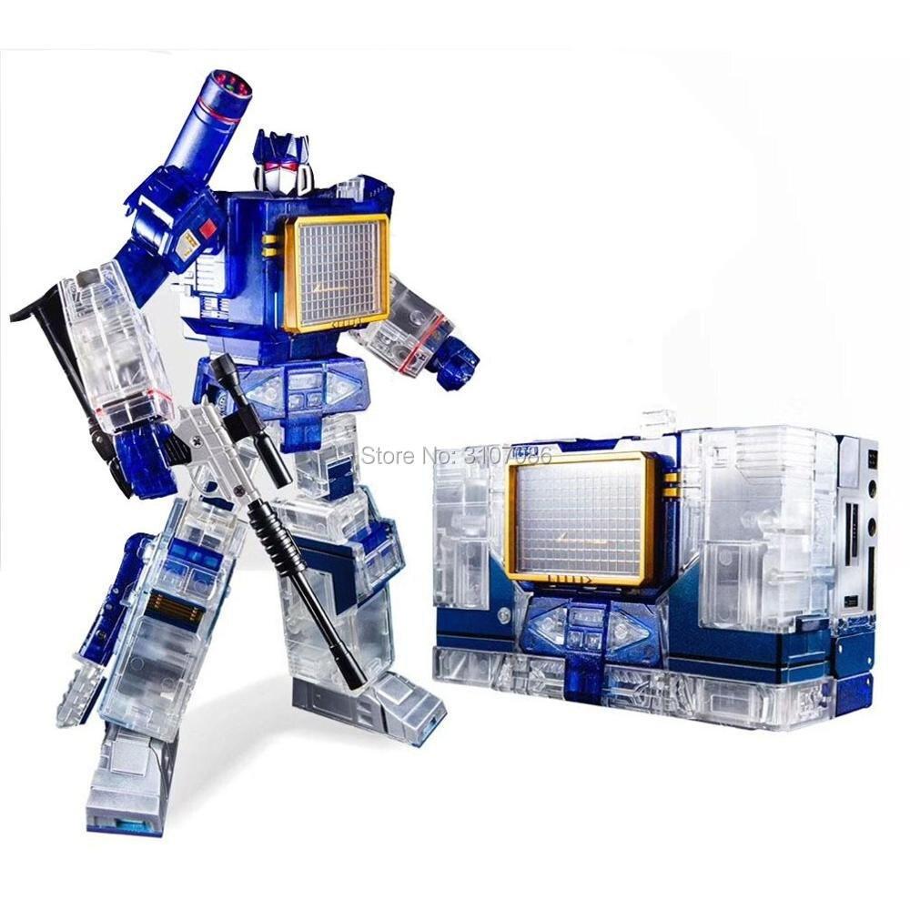 Oyuncaklar ve Hobi Ürünleri'ten Aksiyon ve Oyuncak Figürleri'de G1 Dönüşüm THF 01 THF01T Şeffaf Ses Dalgası walkman İki bant MasterPiece MP13 Büyük Boy Alaşım Aksiyon Figürü Robot Oyuncak'da  Grup 1