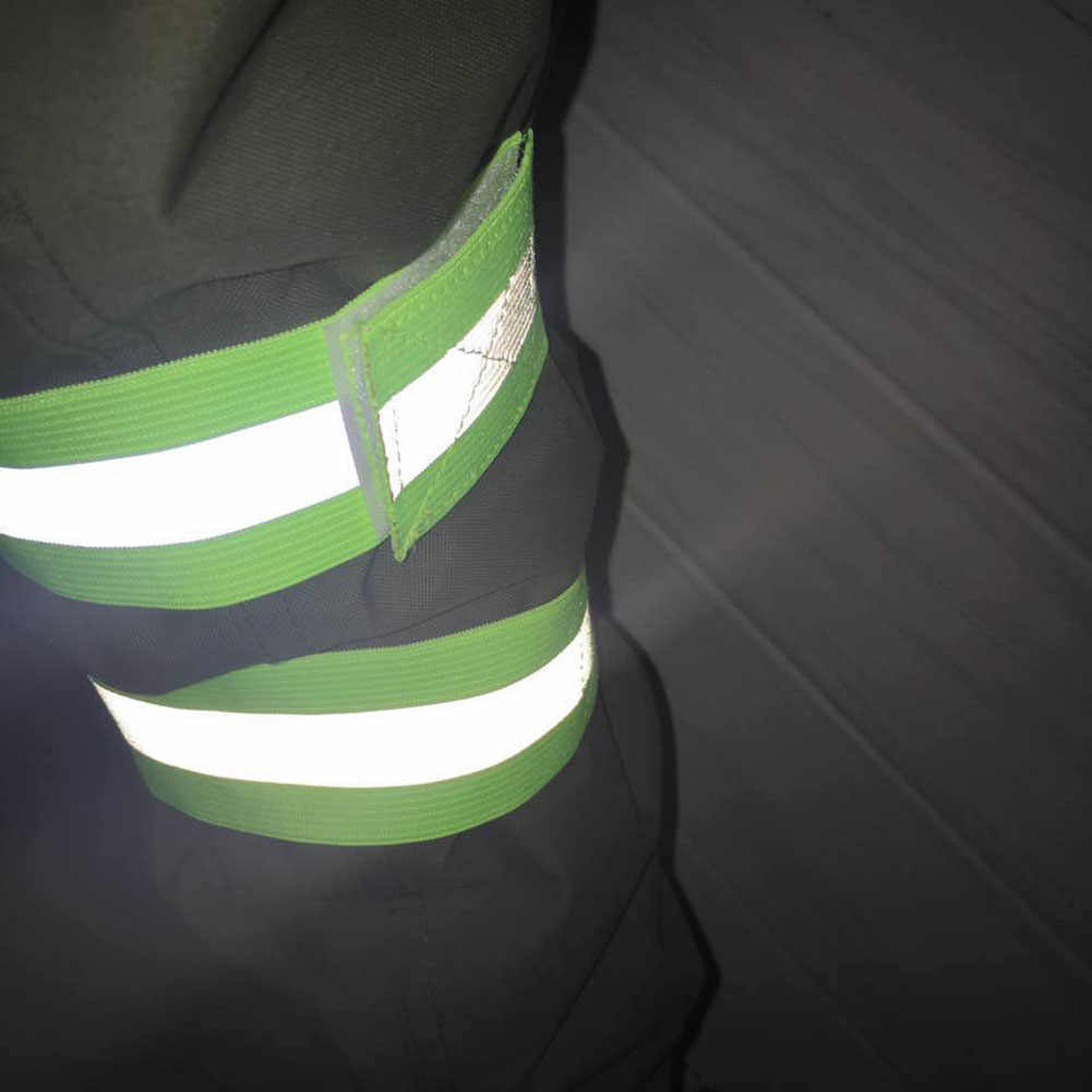 ใหม่ทนทานความปลอดภัยเข็มขัดสะท้อนแสง Snap Arm Band Armband ของขวัญ