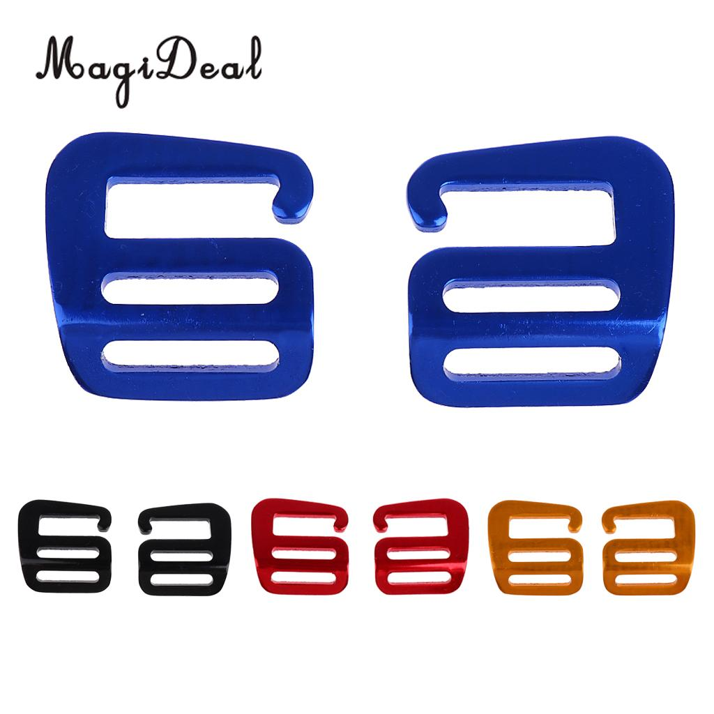 MagiDeal 2 Pcs 1 inch G Hook Outdoor Webbing Buckle for Backpack Strap 25mm Camping Hiking Webbing Straps Clothing Belt Access