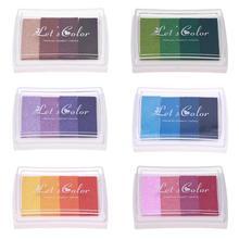 6 цветов DIY Скрапбукинг старинные ремесла чернил прокладка красочная штемпельная подушечка штампы уплотнения украшения Штамп краска Свадьба E5M1