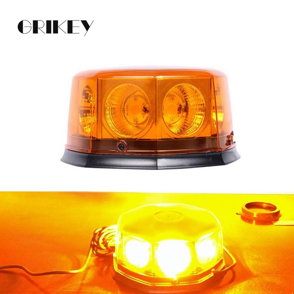 8 LED Beacon Car Emergency Lights Hazard Warning Auto Strobe Light w/ Magnetic Base 12 Flashing Mode