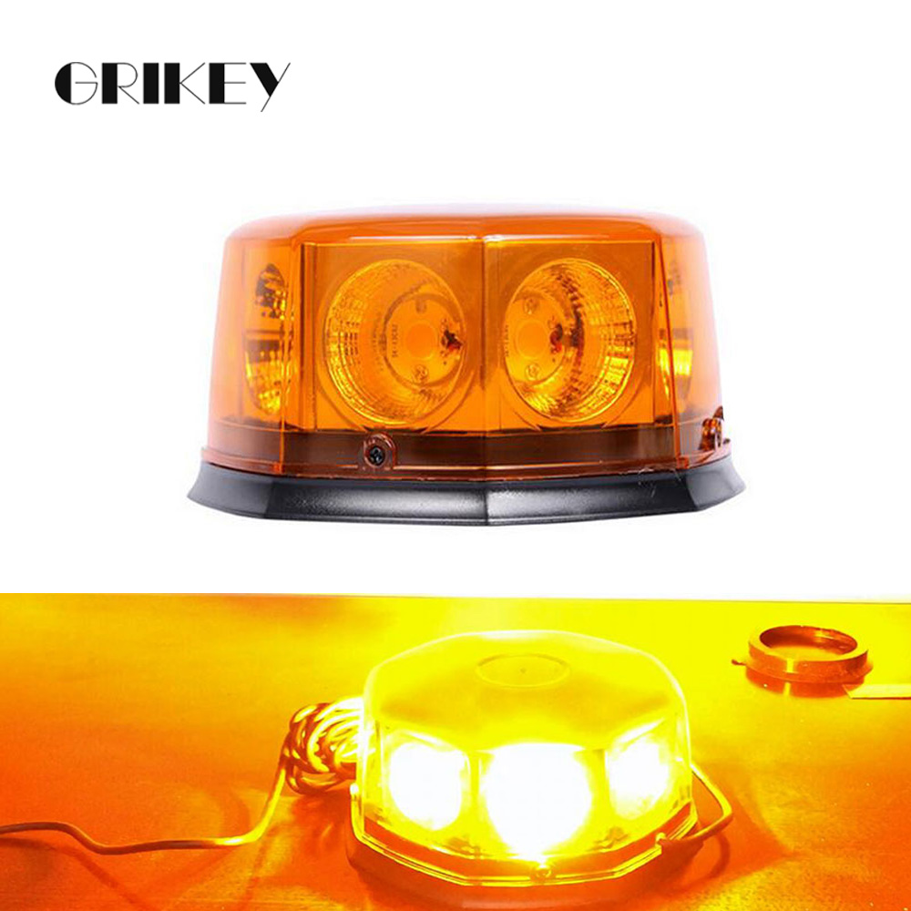 8 LED Beacon Car Emergency Lights Hazard Warning Auto Strobe Light w/ Magnetic Base 12 Flashing Mode