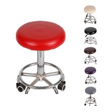 Elastic PU Leather Round Stool Chair Cover Waterproof Pump Chair Protector Bar Beauty Salon Small Round Seat Cushion Sleeve xlc pu s01 stand pump alpha 11 bar with dualkopf