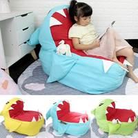 Children Seat Sofa Kids Bean Bag Cartoon Shark Skin Upscale Baby Chair Toddler Nest Puff Seat Bean Chair Only Cover No Filling