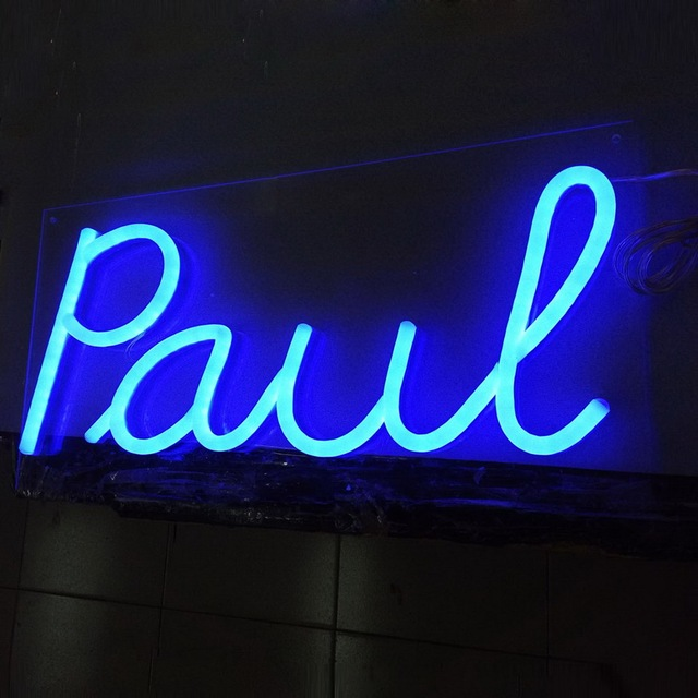 Blue LED flex neon letters rgb light custom made led neon sign