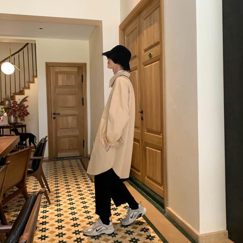 Pflichtbewusst Einfarbig Windjacke Männer Langen Ärmeln 2019 Neue Frühling Der Trend Der Persönlichkeit Mode Jugend Casual Ausgekleidet Kleidung PüNktliches Timing