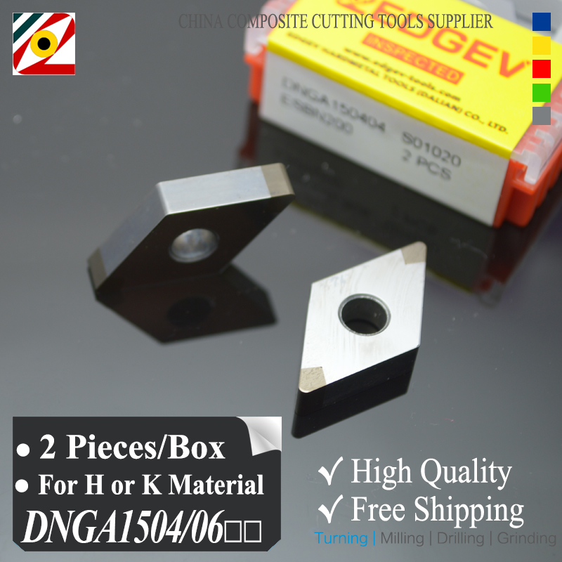 EDGEV 2 Pieces CBN Inserts DNGA150404 DNGA150604 DNGA441 Cubic Boron Nitride Turning Tools For harden Steel
