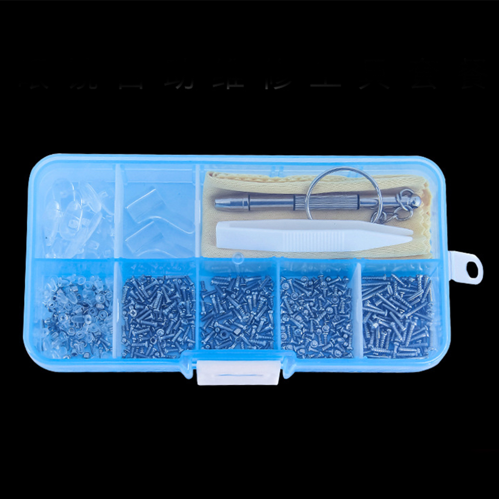 100Pcs Tiny Screws Set Sunglass Spectacles Nut Kit Eyeglasses Silicone Nose Pad Micro Screwdriver Repair Tool Tiny With Tweezer