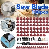 100Pcs Multitool Saw Blade Oscillating Blade Multi Tool Circular Saw Blades For Renovator For Fein Multimaster Wood Cutting Ki