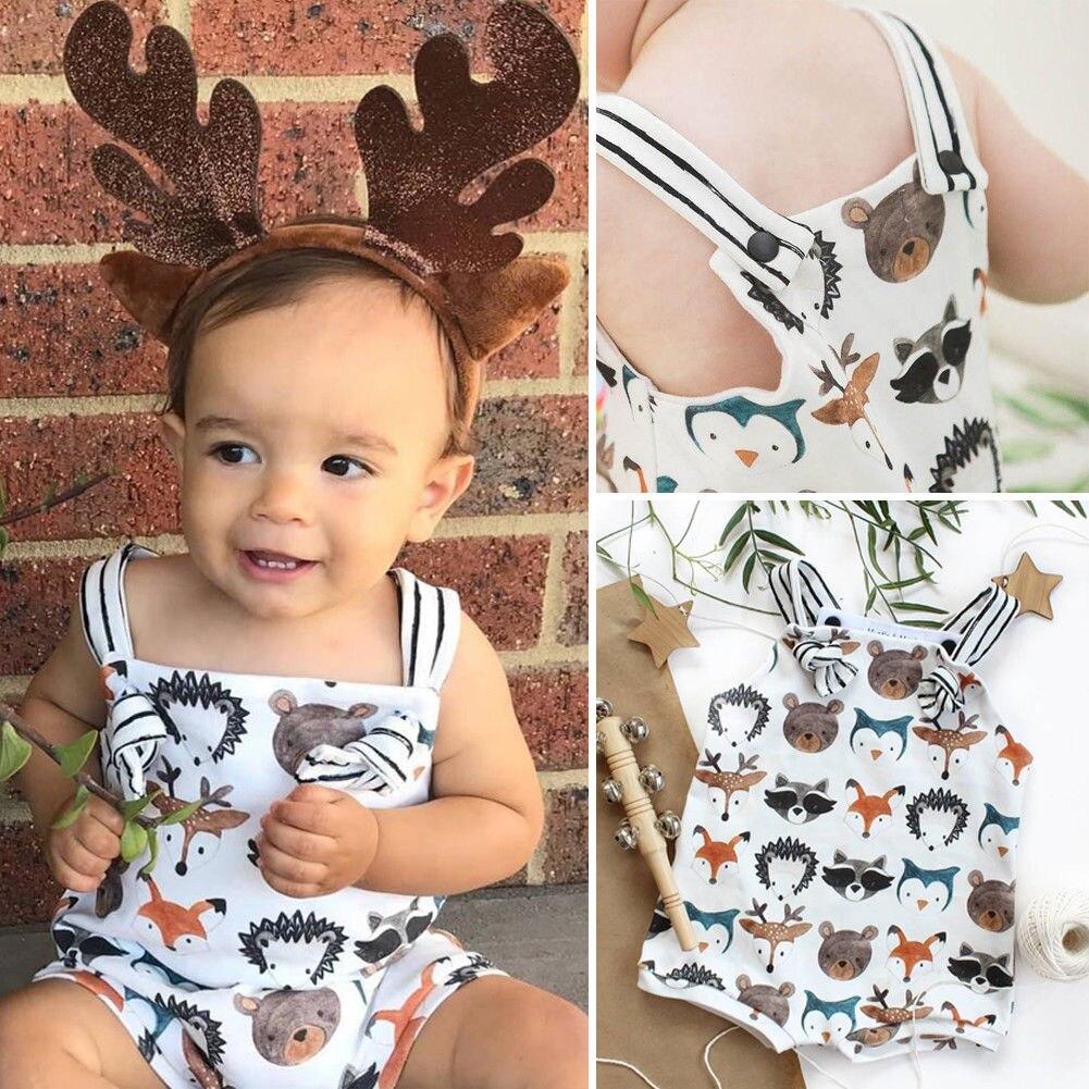 Pudcoco Girl Jumpsuits 0-24M Newborn Infant Baby Girl Cotton   Romper   Jumpsuit Clothes Outfits Sunsuit