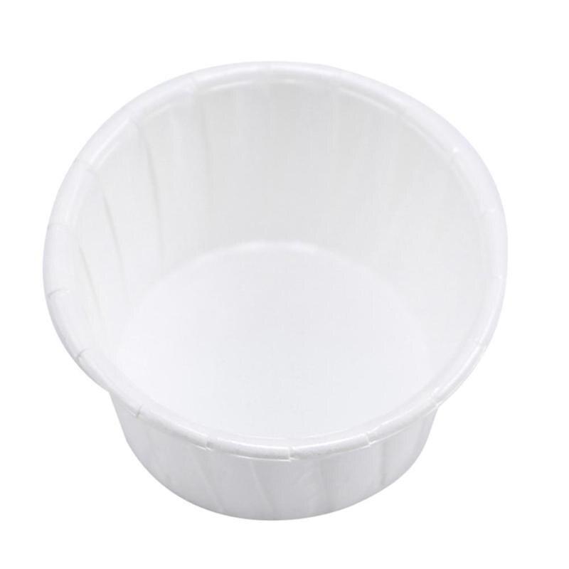 10 Stücke Gesicht Haar Entfernung Wachs Bean Container Papier Tasse Eis Kuchen Papier Schüssel Tablett