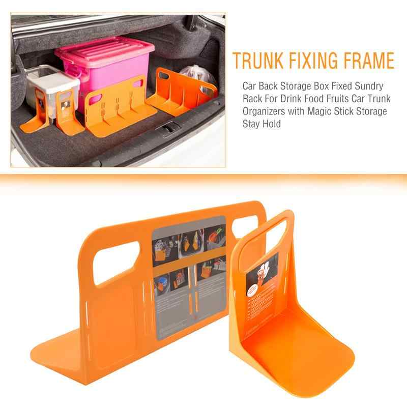 Multifunctional Car Back Auto Trunk Fixed Rack Holder Luggage Box Stand Shake-proof Organizer Fence Storage Units Holder