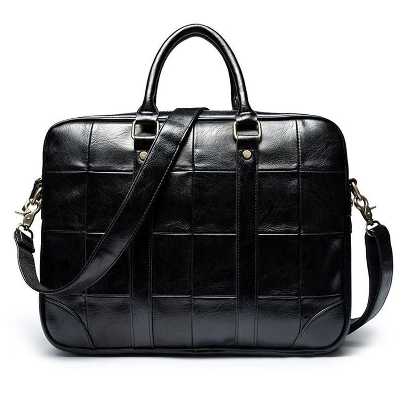 Fashion Briefcase Men Messenger Bag Laptop Bolsa Masculina PU Leather Bandolera Hombre Business Handbag Man Travel Borsa Uomo