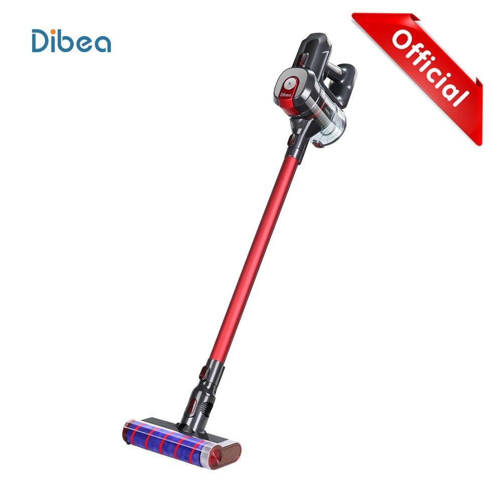 Dibea D008Pro 2-Em-1 Forte Sucção A Vácuo Aspirador de pó Portátil Sem Fio Aspirador de Pó Baixo Ruído Coletor de Pó aspirador