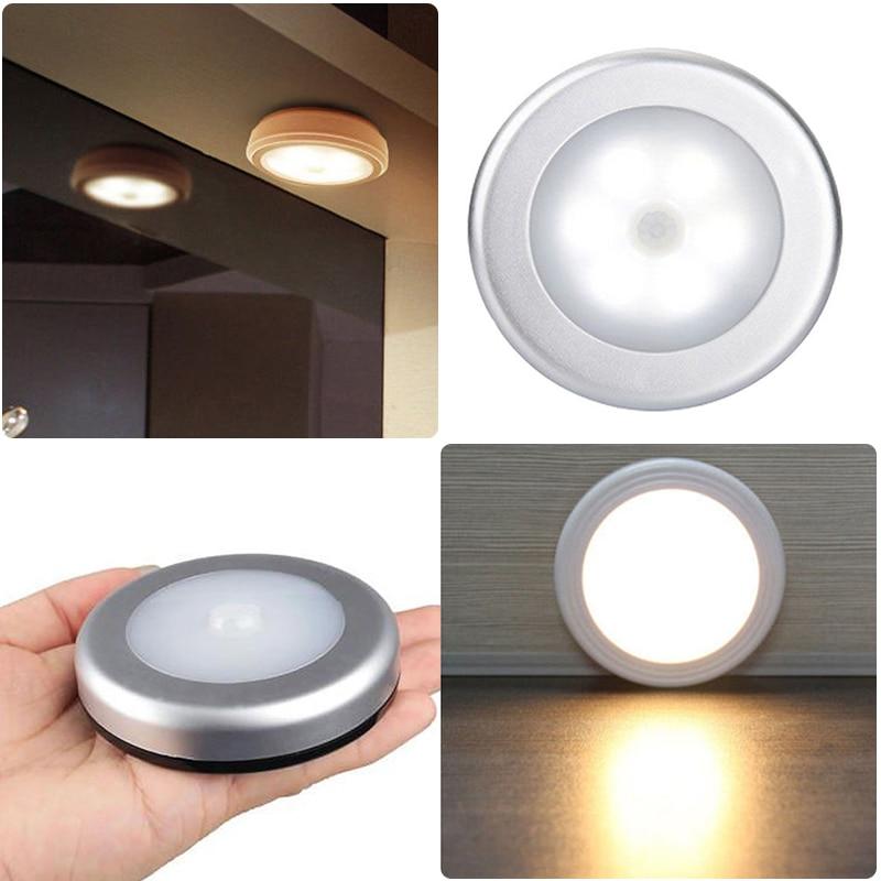 New Wireless 6 Leds Motion Sensor Light Wall Cabinet Wardrobe Drawer Battery Lamp