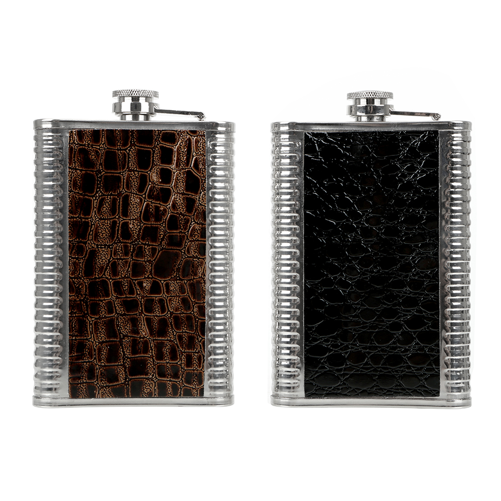 9OZ Whisky Bottle Hip Flasks with Pu Leather Anti Slip Stainless Steel Drinkware