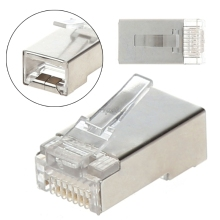 50 100 Pieces Shielded Cat5 Rj45 Modular Plug 8 Pin Connector Ethernet font b Network b