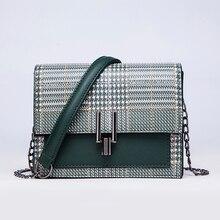 92fa15592 Marca de luxo de alta qualidade senhoras de couro senhoras bolsa verde  bolsa de ombro feminino bolsa Do Vintage Pequeno Saco de .