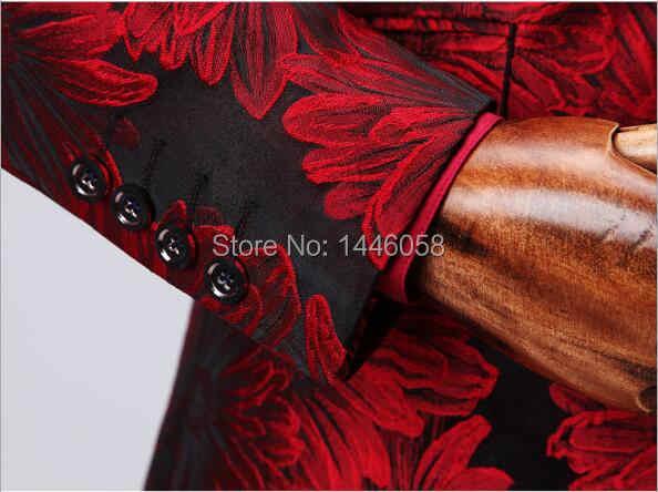 Костюм Homme 2019 новый двубортный костюм мужской Terno Masculino Мужские костюмы смокинг для выпускного вечерние костюмы цветочный свадебный костюм жениха