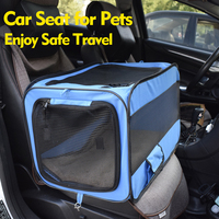 Cat Carrier Handbag Car Seat for Soft Sided Oxford Cloth Two Side Expansion Foldable Large Space for Cats Dogs Travel Kennel