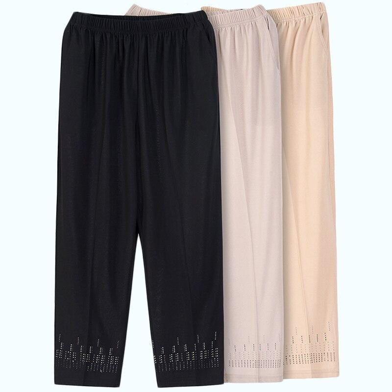 New Summer Women Pant 2019 Fashion High Waist Loose Capris Pants Casual Straight Pants Black Plus Size Pantalon Pemme