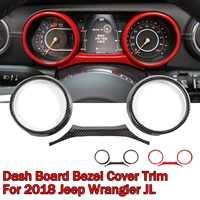 Car Dash Board Sticker Fit For Jeep for Wrangler JL 2018 Dashboard Instrument Panel Gauge Cover Trim Bezel Car Sticker
