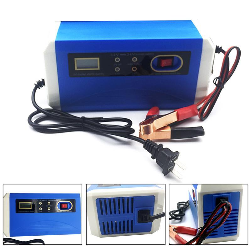 Volle Automatische Auto Batterie Ladegerät 20AH-200AH Zu 12 v 24 v Smart Schnelle Power Lade Geeignet Für Auto Motorrad