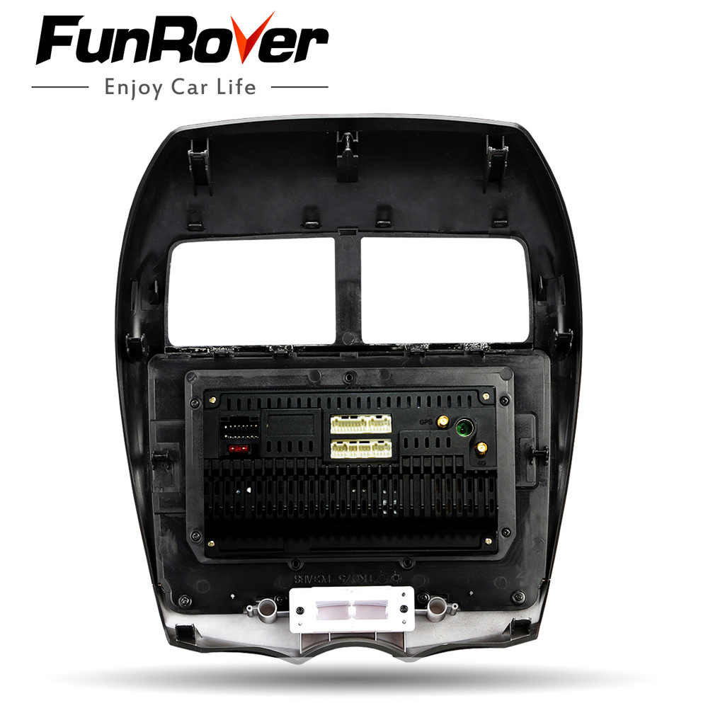 FUNROVER 2G + 32G android 9,0 автомобилей Радио мультимедийный плеер для Mitsubishi ASX peugeot 4008 Citroen C4 Стерео dvd gps-навигация с rds