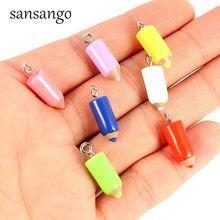 337e93d59af0 10 piezas de resina lápiz colgante encantos de joyas de moda DIY collar  pulseras al por mayor