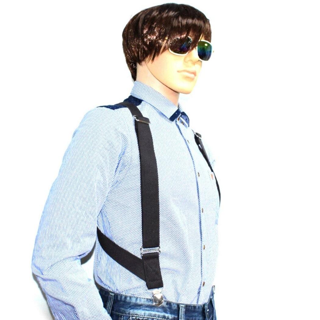 Tirantes Para Hombre Con Doble Clip En Forma De X Tirantes Solidos Para Pantalones Casuales Para Ninos Operacion Al Aire Libre Tirantes Camisa Breteles Suspensores Para Hombre Aliexpress