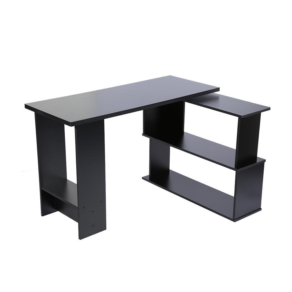 Folding Corner Computer Desk L-Shape PC Laptop Table For Home Office Study Writing Desk Black
