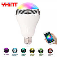 1pcs intelligent bluetooth speaker led bulb music playing dimmable smartphone App remote control wireless led Bluetooth lighting