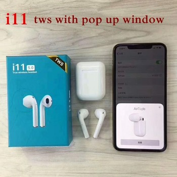 2019 Newest i11 TWS With Pop-up Windows Wireless Earphone Bluetooth Headset V5.0 Touch Binaural Sports For Smart Android Phone