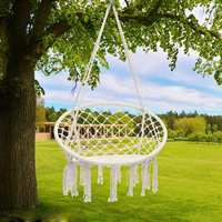 Nordic Style Round Hammock Furniture Outdoor Indoor Dormitory Bedroom Swing Hanging Chair For Child Adult Hammock Bed with Hook