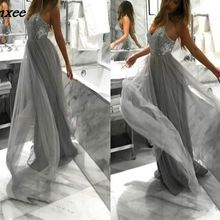 44982af60033d Buy grey lace dress and get free shipping on AliExpress.com