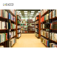 Laeacco Modern library Backdrop Baby Student Portrait Photography Background Customized Photographic Backdrops For Photo Studio