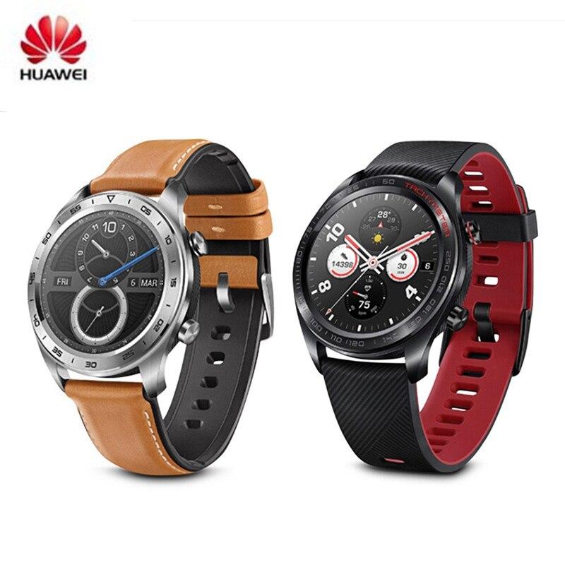 Date Huawei Honneur Montre Maigic En Plein Air Étanche montre connectée 1.2 pouces Mince Longue autonomie de la batterie GPS Scientifique Entraîneur Amoled Couleur