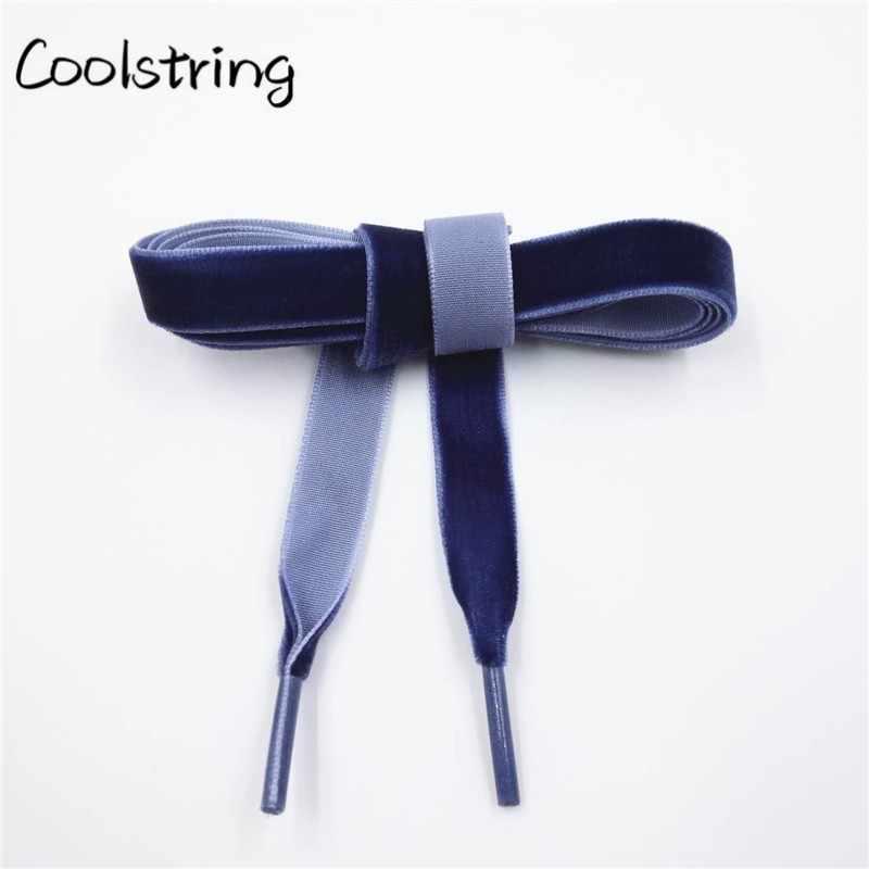 """Coolstring 1.27 cm (1/2 """") kadın Düz kadife kurdele Ayakabı Bir Tarafı Yürüyüş Yürüyüş Dans Botları Ayakkabı Bağcıkları Çocuklar Ve Yetişkinler Için"""