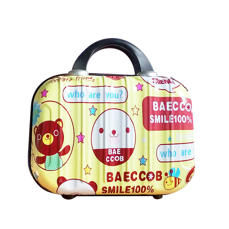 Small Cartoon Travel Luggage Suitcase Hard Bag child Clothes Lady Clothes Beauty Toiletry Cosmetic Electronic Organizer Box Case