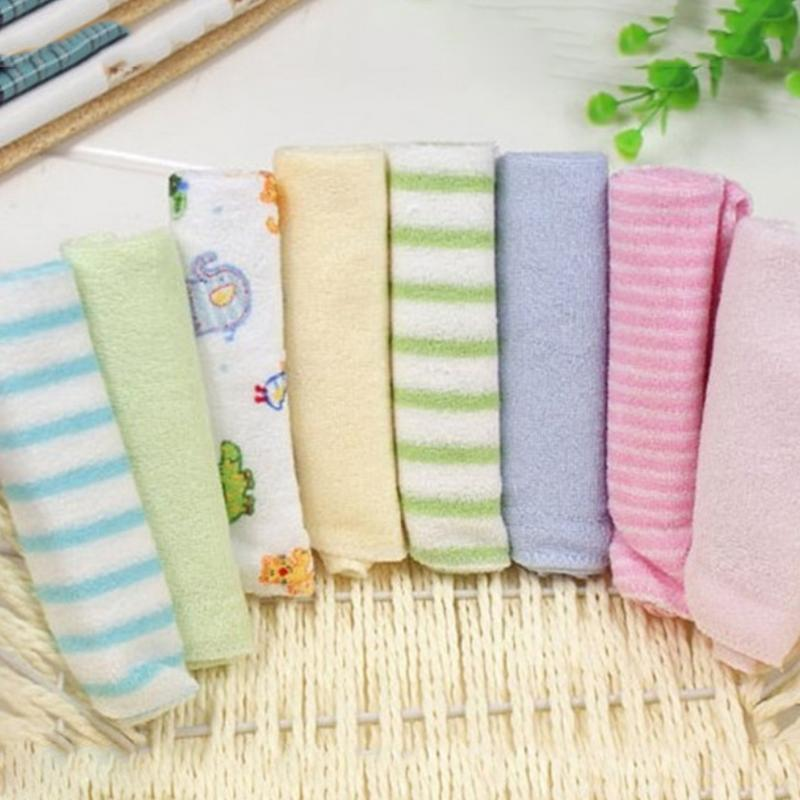 8pcs/pack Cotton Newborn Baby Towels Saliva Bibs Towel Nursing Towel Baby Washcloth Handkerchief For Kids Soft Square Towel Suit