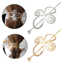 1Pcs Hot Sale Simple Hairclip Hair Women Stick Tools For Ponytail Metal Chinese Hairpin Hollow Headwear
