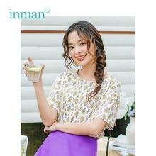 11ad06d24d5f8 INMAN 2019 Summer New Arrival O-neck Retro Floral Casual Loose Korean  Fashion Slim Short Sleeves Women T-Shirt