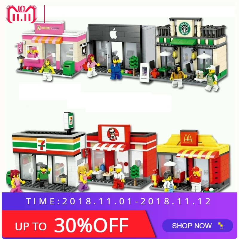 цены Mini City Street Blocks Building Street Blocks Sets Compatible With LegoING City Streets Scene Architecture Building Block Toys