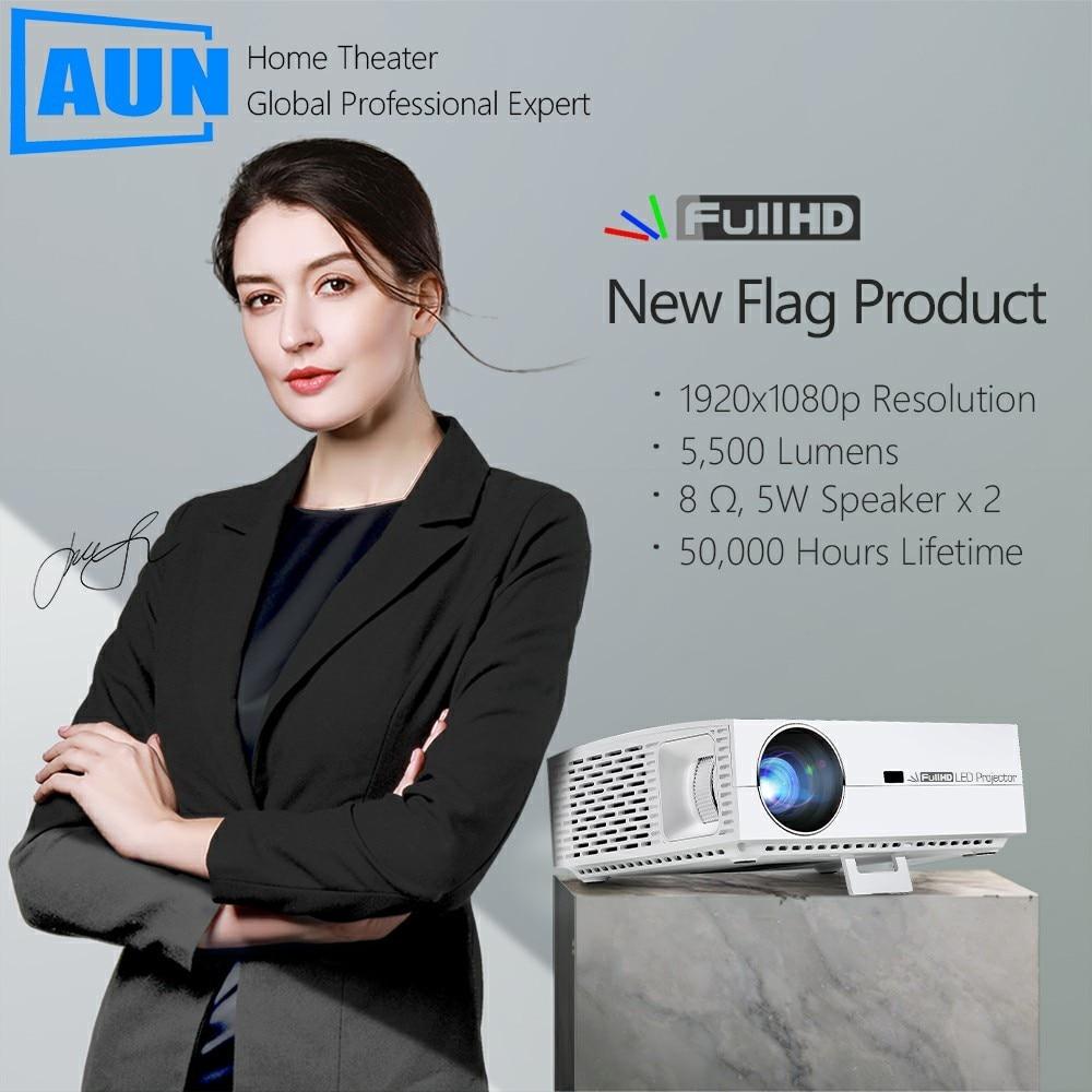 Marca AUN Full HD proyector 1920x1080 P resolución F30. 5500 lúmenes 3D LED Beamer para teatro en casa Puede ser comparado con 4 K - 3