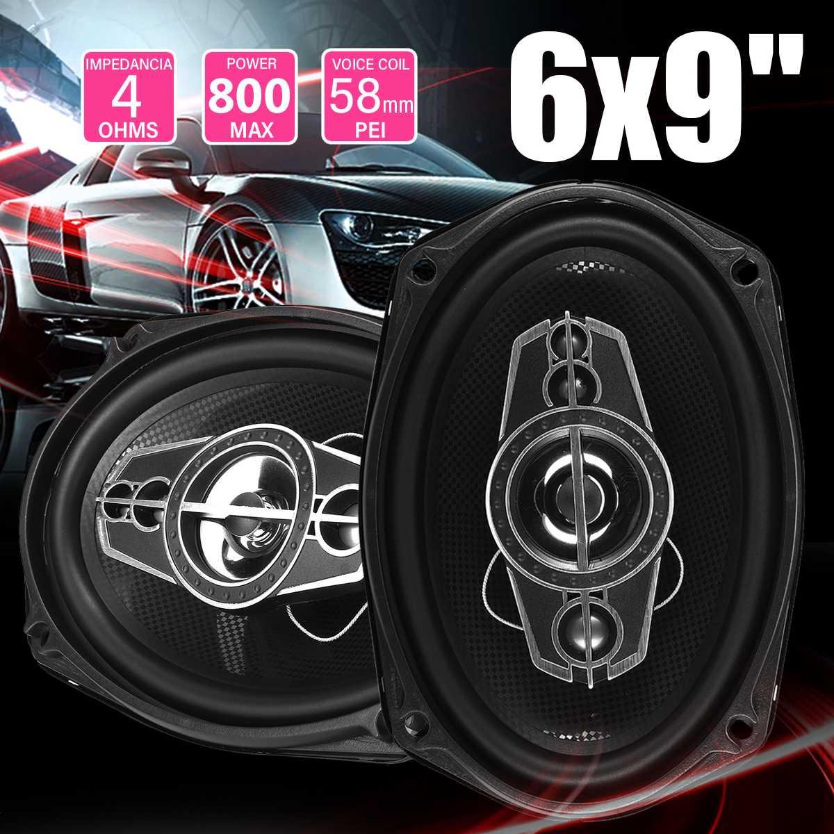 2 pièces 800 W 6x9 pouces haut-parleur de voiture et Subwoofer HIFI haut-parleur Coaxial voiture basse Tweeter Audio haut-parleur stéréo pour voitures universelles