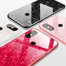 JONSNOW Tempered Glass Phone Case For Xiaomi Redmi Note 6 Pro Note 7 Glossy Hard Back Cover for Mi 8 Mi 9 SE Mi A2 Lite Cases for redmi note 7 6 pro case luxury hard tempered glass fashion marble protective back cover case for xiaomi mi 9 full cover