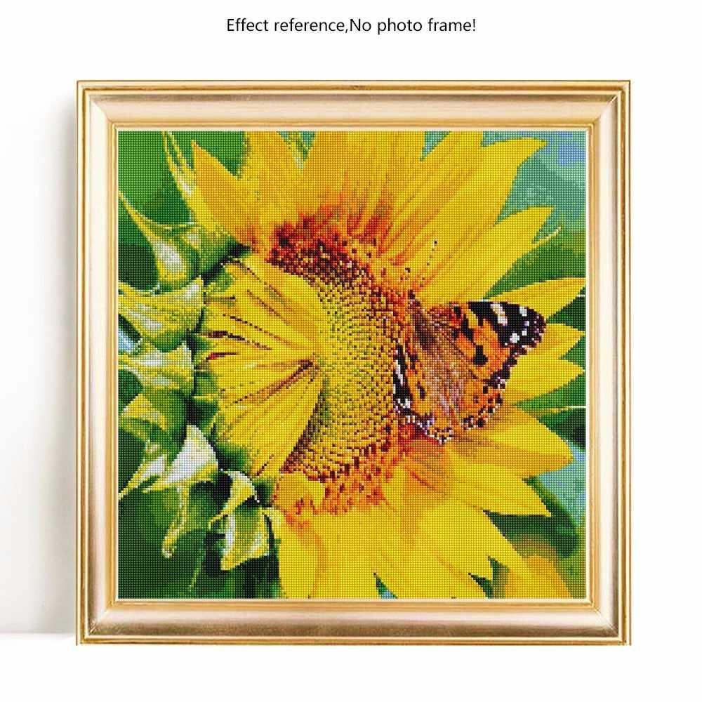 Evershine 5D เพชรเย็บปักถักร้อยเต็มจอแสดงผลดอกไม้ DIY เพชรโมเสคขาย Sunflower ภาพ Rhinestones ภาพวาดเพชร