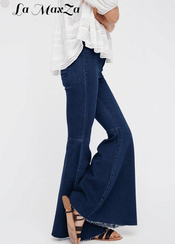 Branqueada Do Vintage Incendiar Calça Jeans Rasgado para As Mulheres Borlas  Perna Ampla Cintura Alta Butt Lift Jeans Coreano Calças Jeans Plus Size em  ... a68e31a9df