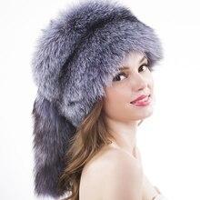 Unisex piel de zorro sombreros gorros y sombreros ruso al aire libre sombrero  de mujer de piel de mapache invierno ruso sombrero. 1376172adb9
