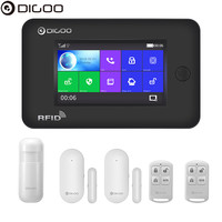 Digoo DG HAMA All Touch Screen Alexa Version 433MHz GSM&WIFI DIY Smart Home Security Monitor Alarm System Kits